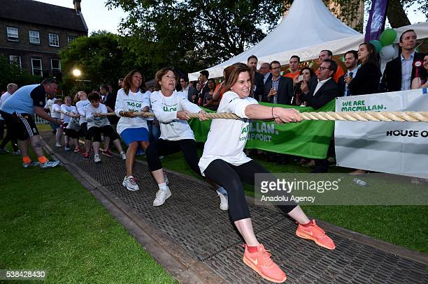 Female MP's including Jo Cox at the House of Lords V House of Commons Tug of War fundraising event for Macmillan Cancer support Westminster College...