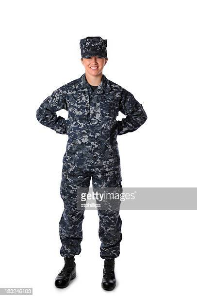Female navy soldier in uniform
