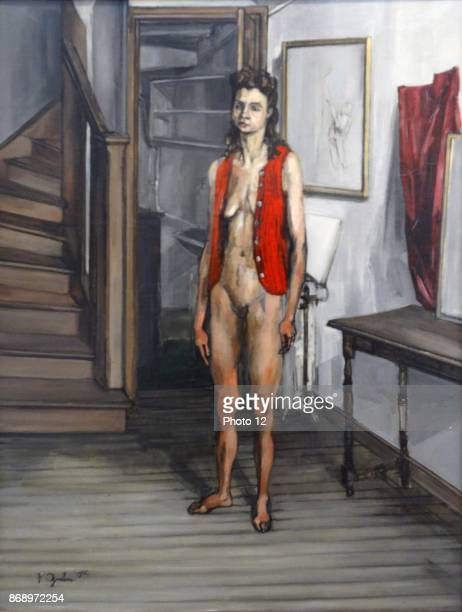 Female Nude in a Red Cardigan By Francis Gruber 1944 Francis Gruber 19121948 French painter of figures imaginative compositions still life and...