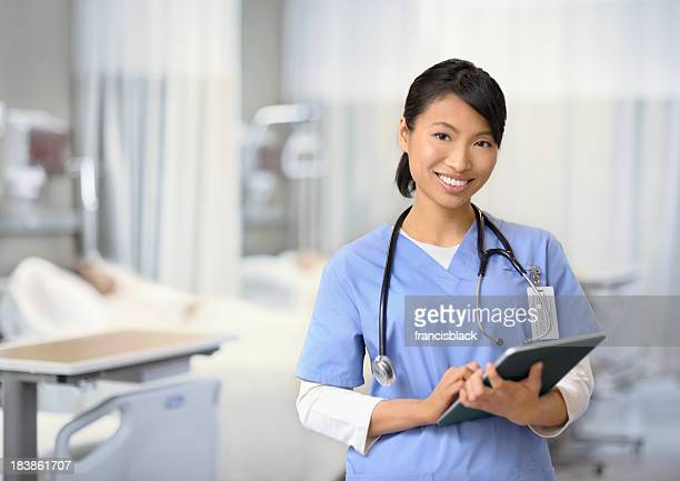 Female nurse working