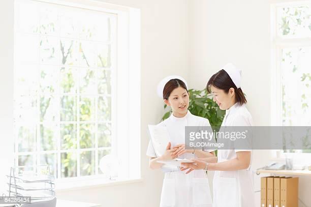 Female nurses talking