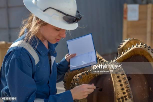 Female Oil Engineer