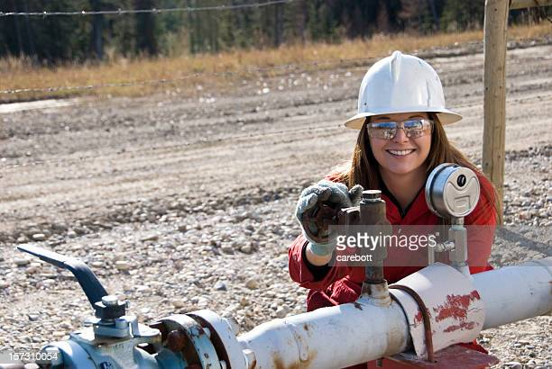 Weibliche Oilfield Arbeiter
