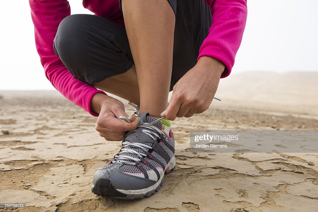 A female on a hike. : Stock Photo
