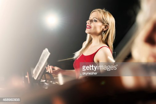 Female opera singer.