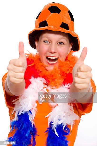 Female Orange Fan