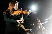 Female orchestra.