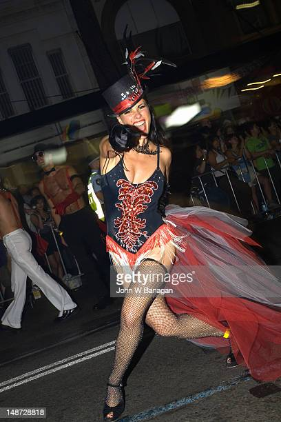 Female participant, Gay and Lesbian Mardi Gras Parade.