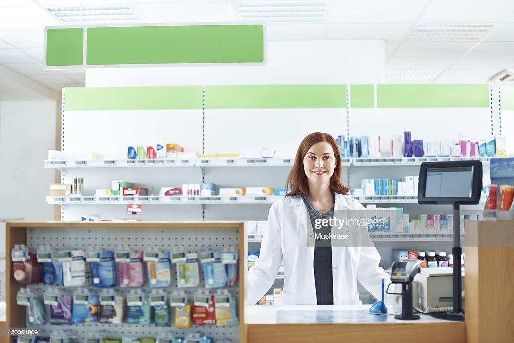 Female pharmacist : Stock Photo