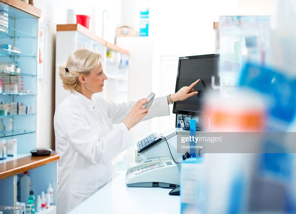 Female pharmacist : Stock Photo