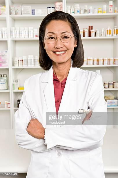Female pharmactist, portrait