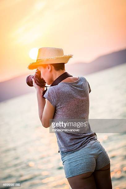 Hembra fotógrafo