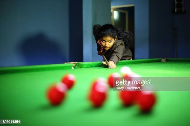 Female Playing Snooker
