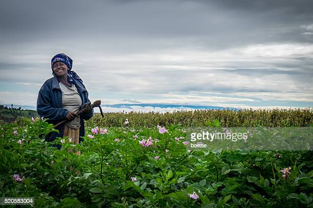 Female Potatoe Farmer in Kenya