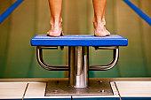 Female professional swimmer