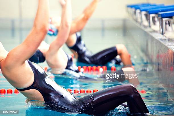 Female professional swimmers