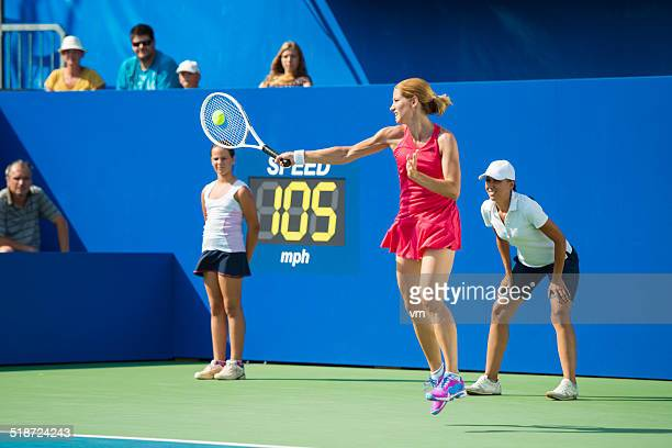 Female Professional Tennis Player in Action