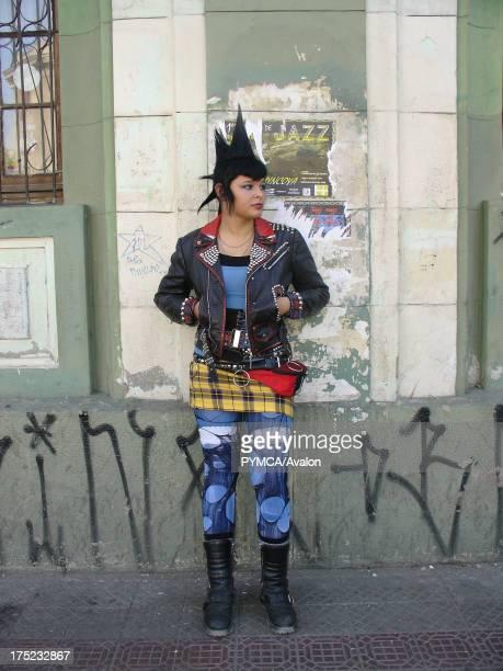 Female punk on the street Santiago Chile 2007