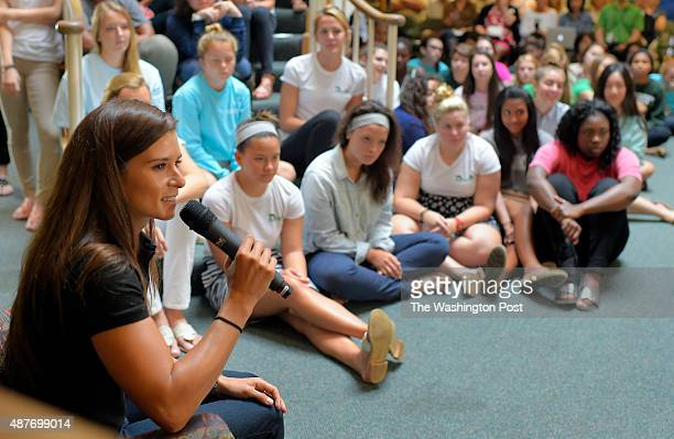 Female race car driver Danica Patrick visited the all girls Foxcroft school to talk with the students about competing in a male dominated sport and...