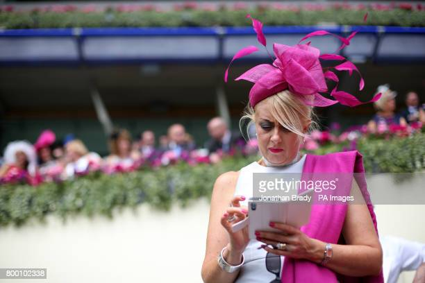 A female racegoer during day four of Royal Ascot at Ascot Racecourse