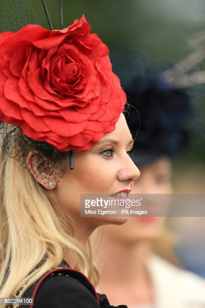 Female racegoers during QIPCO Sussex Stakes Day during Glorious Goodwood Festival2013 at Goodwood Racecourse
