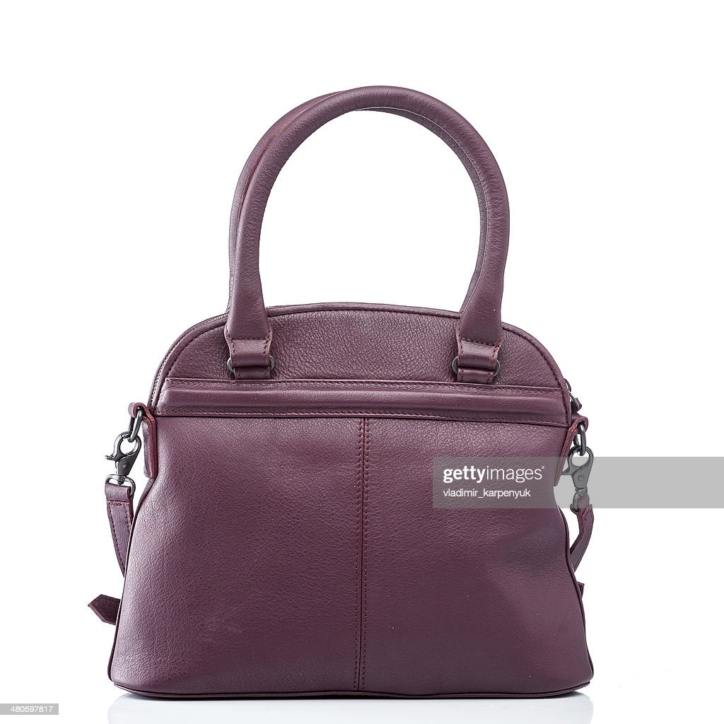 female red leather handbag : Stock Photo