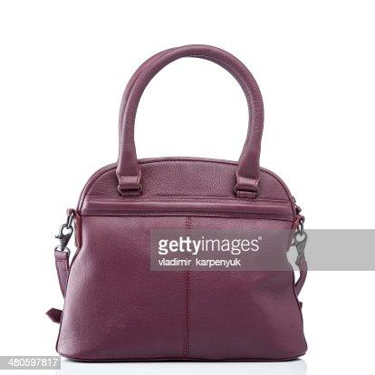 female red leather handbag : Stock Photo