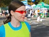 Weibliche Läufer am marathon