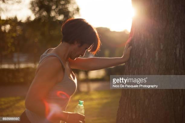Female runner at the park