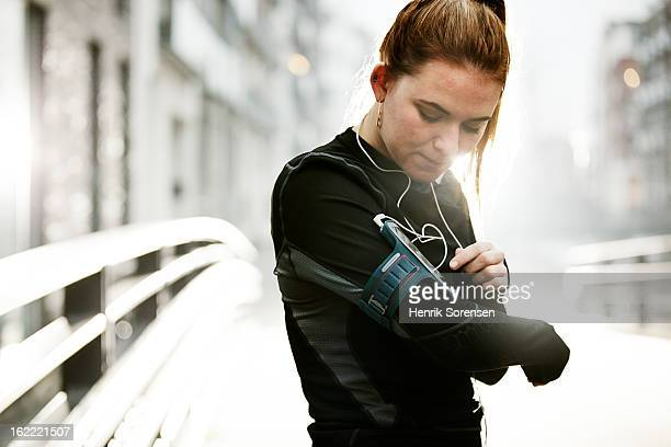 female runner in urban invironment