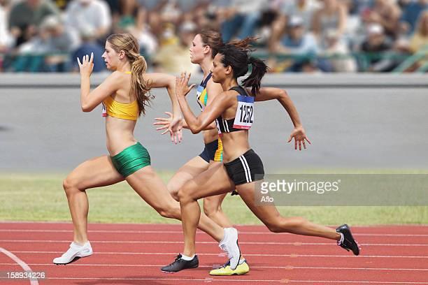 Female Runners Racing