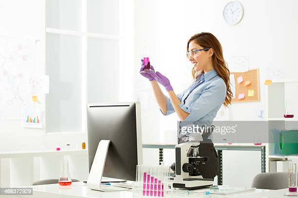 Female Scientist in a genetic lab.