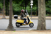 Female Scooter Rider in Paris France