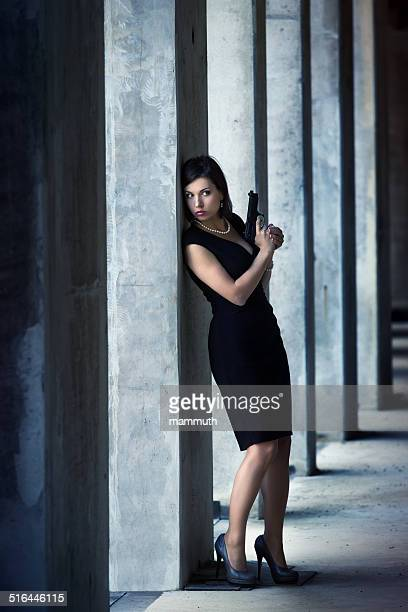 Weibliche geheimen Agenten in Aktion