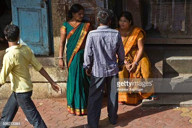 Female sex workers on the street in Kamathipura which is Mumbais oldest redlight district and Asias largest It was set up by the British for their...