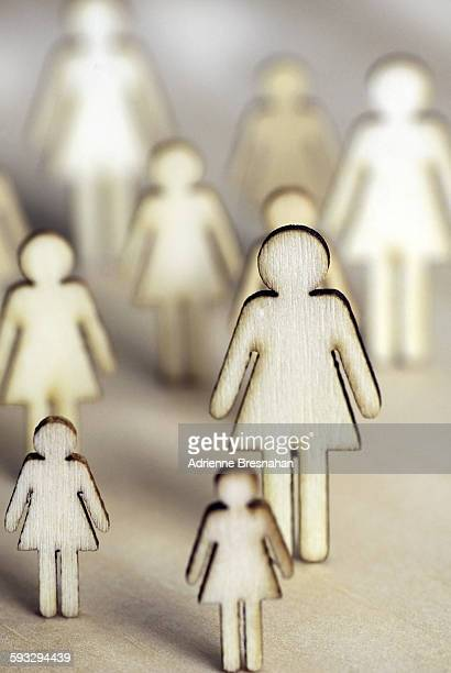 Female Silhouette Figures Standing