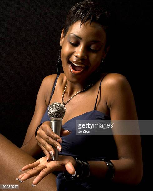 Female Singer with Microphone-2