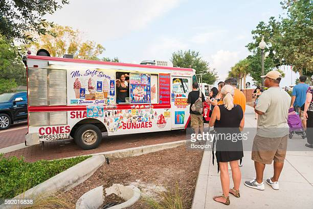 Female Small Business Owner Sells Ice Cream From Truck Kissimmee