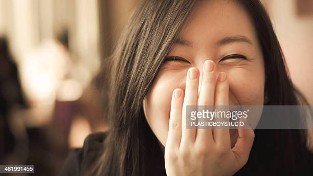 Female / smile / caf?