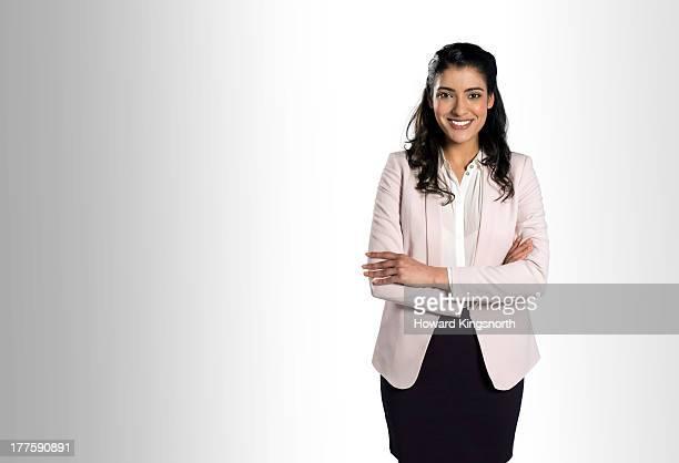 female smiling to camera