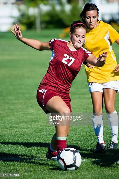 Weibliche Fußball Spieler von Defense