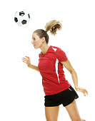 Female soccer player heading the ballhttp://www.twodozendesign.info/i/1.png