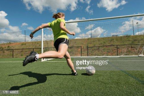 Female soccer player : Stock Photo