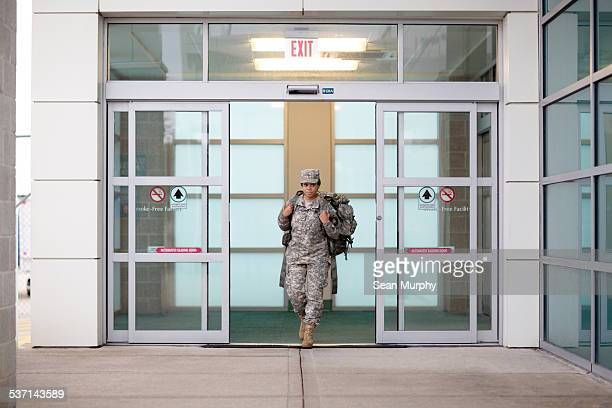 Female Soldier Coming Home from Combat