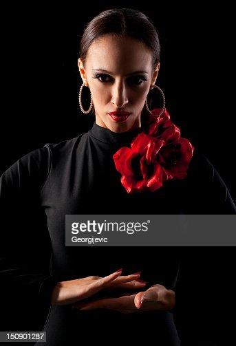 Female spanish dancer : Stock Photo