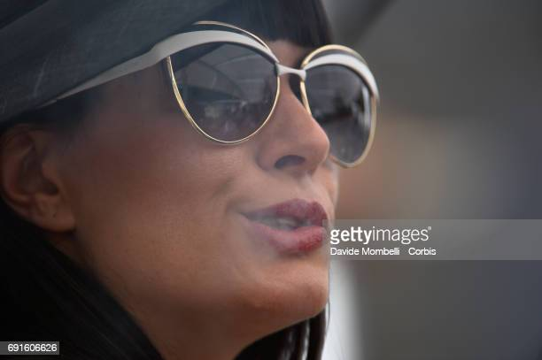 A female spectator with sunglasses during the Piazza di Siena Bank Intesa Sanpaolo in the Villa Borghese on May 27 2017 in Rome Italy