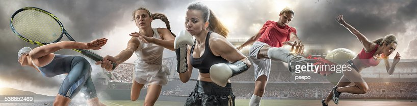 Female Sports Action Heroes