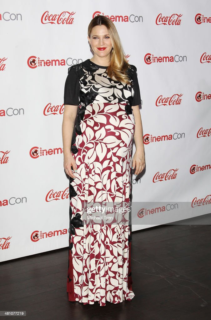 Female Star of the Year award winner <a gi-track='captionPersonalityLinkClicked' href=/galleries/search?phrase=Drew+Barrymore&family=editorial&specificpeople=201623 ng-click='$event.stopPropagation()'>Drew Barrymore</a> attends The CinemaCon Big Screen Achievement Awards at Cinemacon 2014 - Day 4 held at The Colosseum at Caesars Palace on March 27, 2014 in Las Vegas, Nevada.