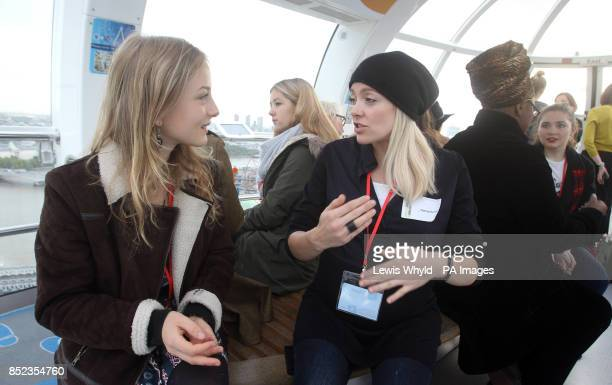 Female stars mark International Day of the Girl with a speed mentoring session on the London Eye with Sixth Form girls from Gumley House Convent...