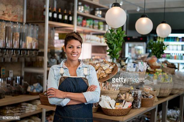 Female store business owner